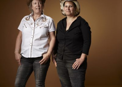 Bernadette Minotti et Alexe Marendaz . Cours de dance Country, Vullierens
